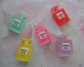 Kawaii girly perfume bottle cabochon craft decoden phone  deco diy charms   5 pcs--USA seller