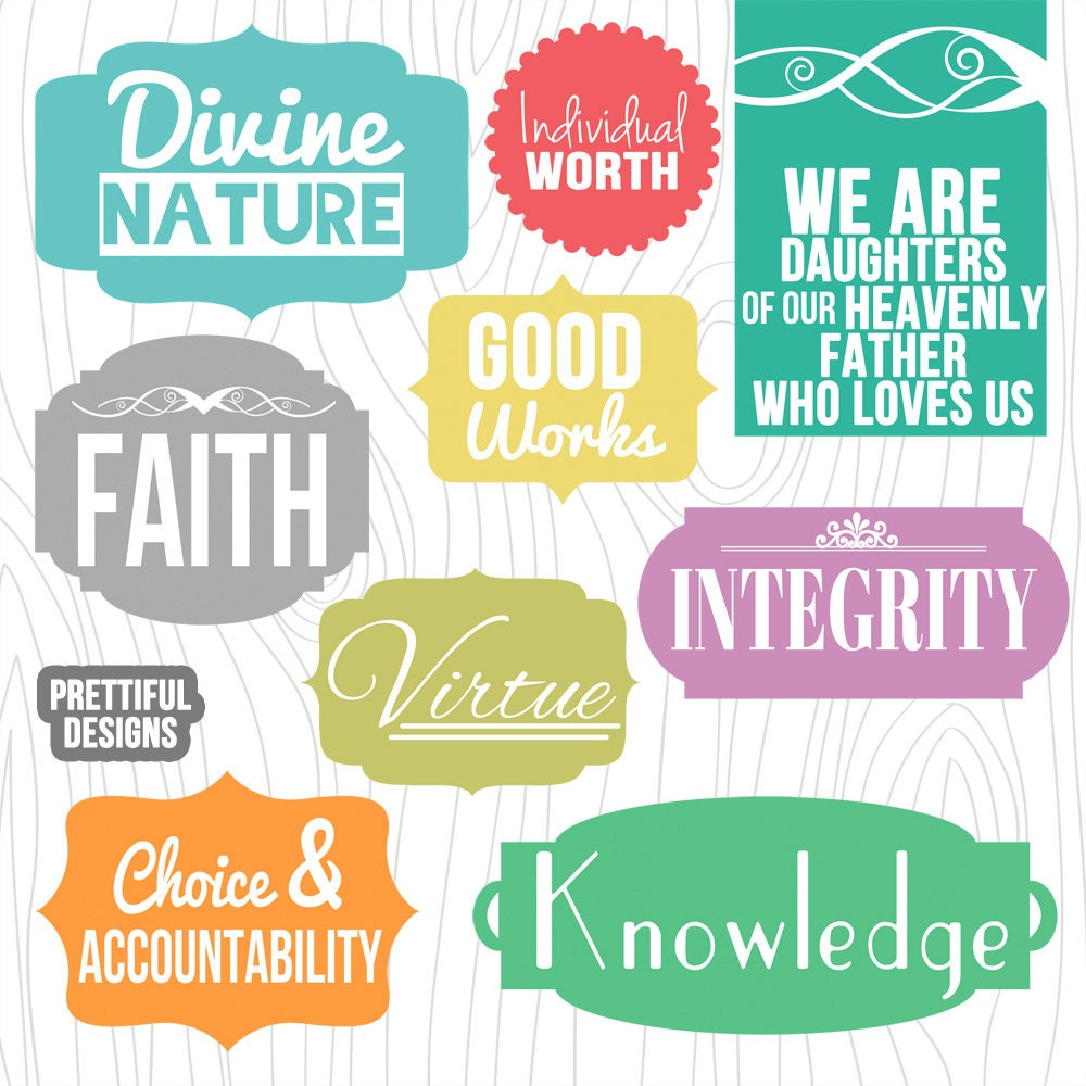 lds young women values digital clip art and word art from Value Proposition Clip Art Money Clip Art