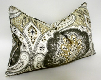Decorative Lumbar Pillow Cover Kravet Latika in Limestone, Accent Pillow, Throw Pillow, Toss pillow