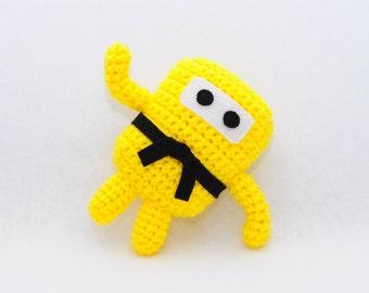 Mini Ninja Plush - Bright Yellow