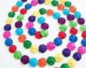 "9 Ft.Bright and Colorful Yo Yo Garland Swag Birthday Party Christmas Tree Special Celebration Photo Prop 1.5"" Yo Yos"