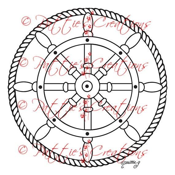 Ships Wheel Rope Circle