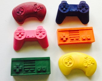 Game controllers crayon set of six