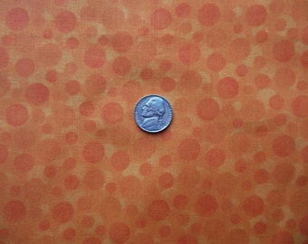 Fat Quarter - Orange Circles