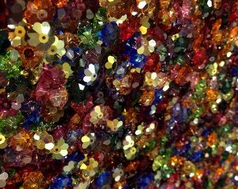 swarovski elements marguerite lochrose flower beads 10x3.5mm color mix 100pcs