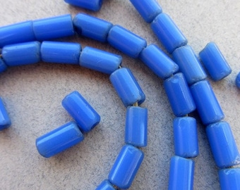 African Blue Glass Beads