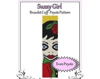 Bead Pattern Peyote(Bracelet Cuff)-Suzzy Girl