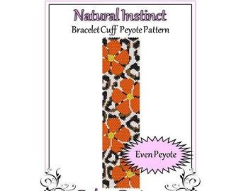 Bead Pattern Peyote(Bracelet Cuff)-Natural Instinct