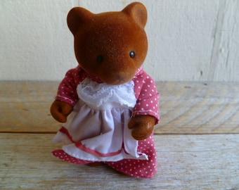 Maple Town Flocked Teddy Bear Figure