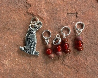 Owl Stitch Markers for Knitting