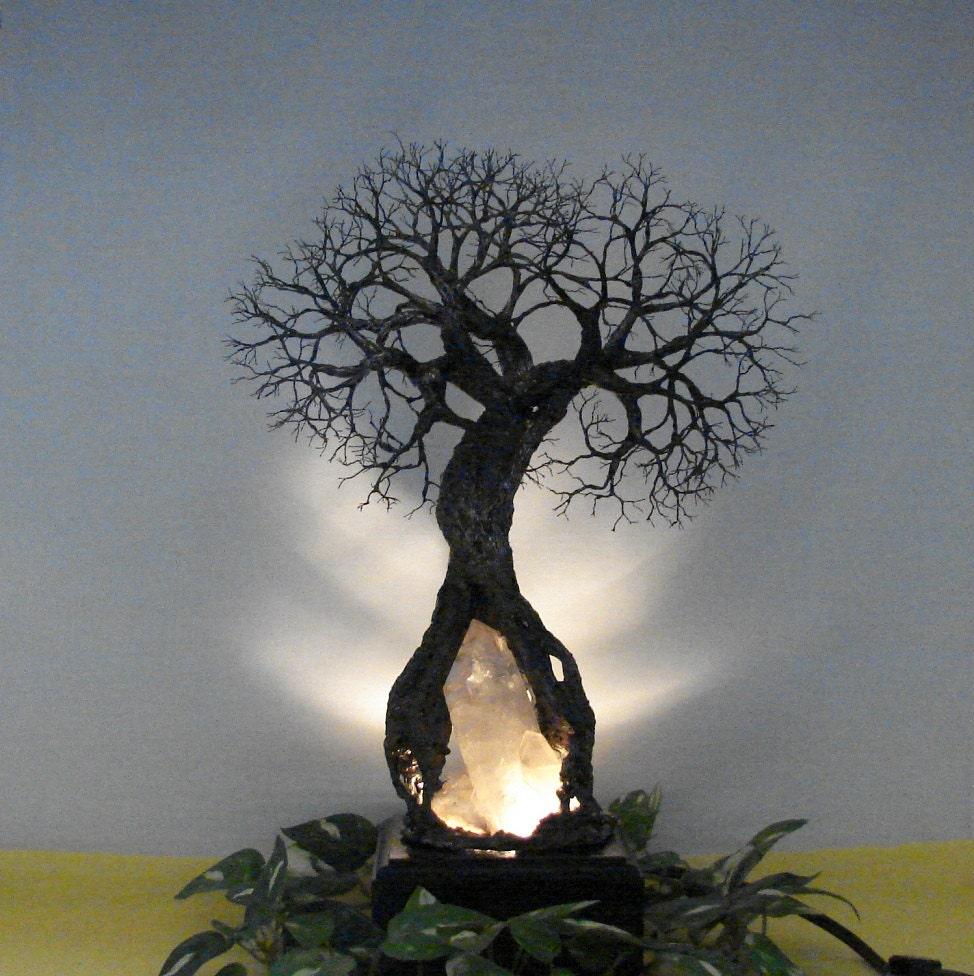 Wire Tree Of Life Sculpture Grove Spirits Inner Child Quartz