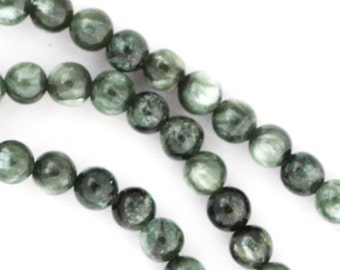 Seraphinite Beads - 4mm Round