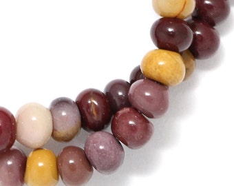 Mookaite Beads - 6mm Rondelle