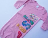 Personalized Infant Gown-New Baby Gift-Coming Home Outfit