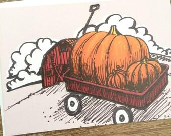 PRINTED CARD Pumpkin Delight