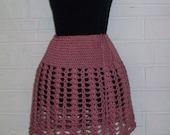Skirt, Crochet, Plum Wine Color, Caron Simply Soft 100% Acrylic, Clothing