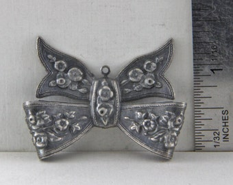 Vintage Metal Bow Charm  Repurpose Recycle Altered Art