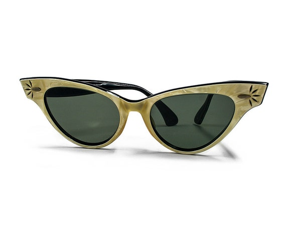 vintage 1950s ray ban sunglasses cat eye frames b and l. Black Bedroom Furniture Sets. Home Design Ideas
