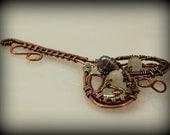 Copper and Fine Silver Key Pendant