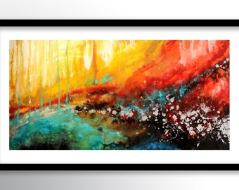 11x17 PRINT Abstract Painting on Glossy Cover Stock, Wall Art, Colorful Modern Fine Art by FARIAS