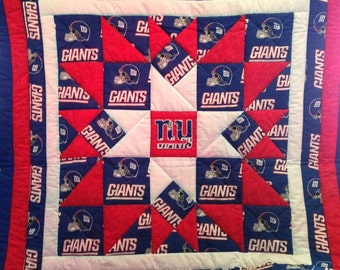 Lap Quilt made with New York Giants Fabric