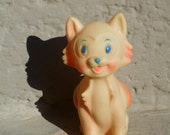 Vintage squeak toy cat