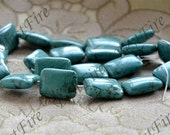 15 inch Single 15x20mm turquoise rectangle nugget beads,gemstone beads,Turquoise jewelry, Gemstone Bead loose strands