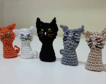 Cat Finger Puppet, Amigurumi Kitties,