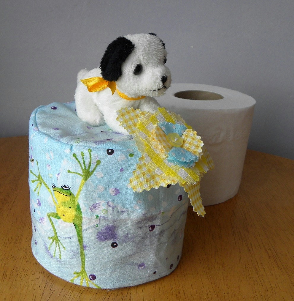 Spare Toilet Paper Roll Cover Bathroom By Pollysvintagebears