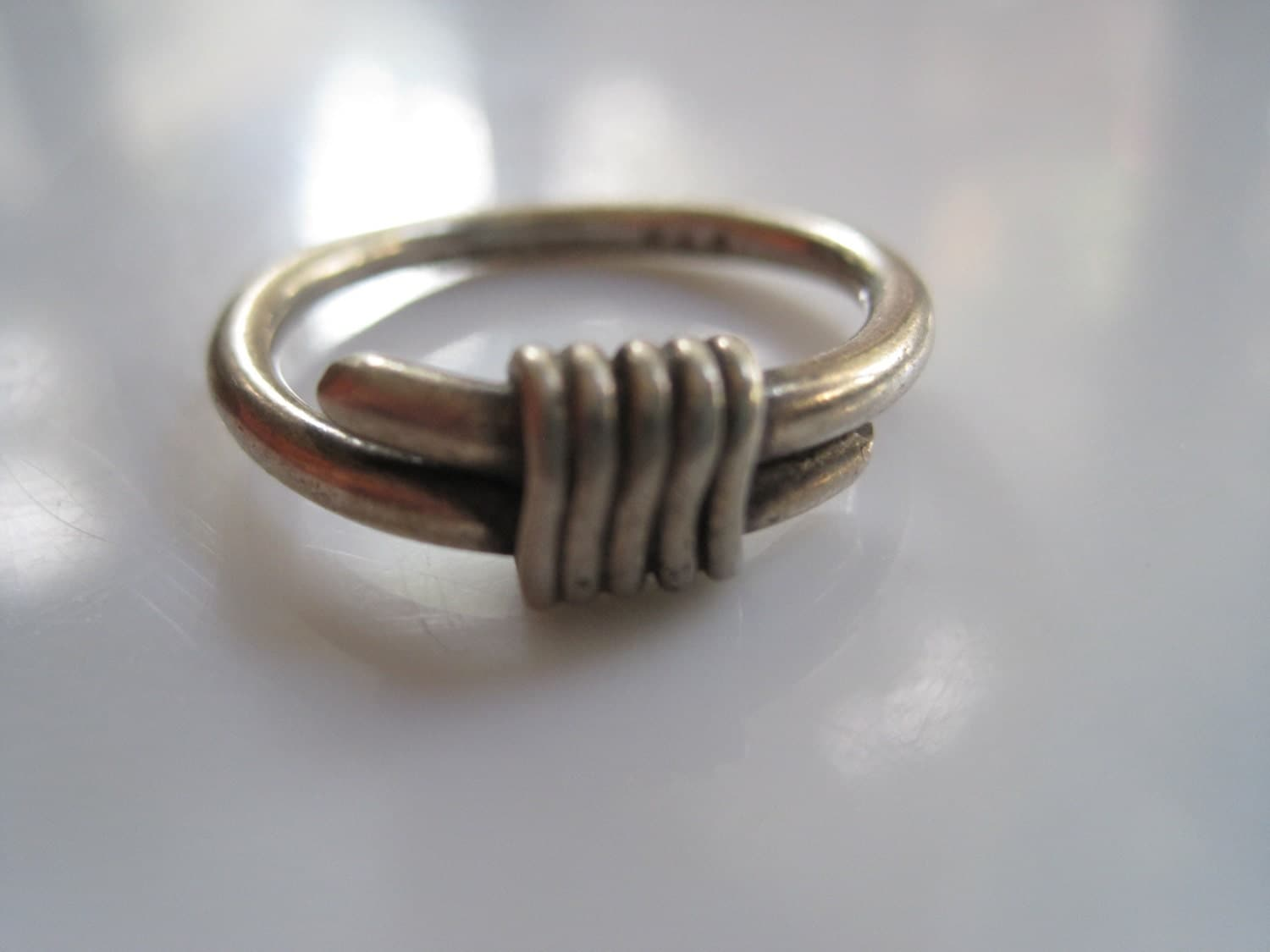 vintage mexican ring taxco silver wrap by pass mexico