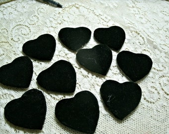 "20 fabric covered WOODEN HEARTS 2"" felt backed pins brooches"