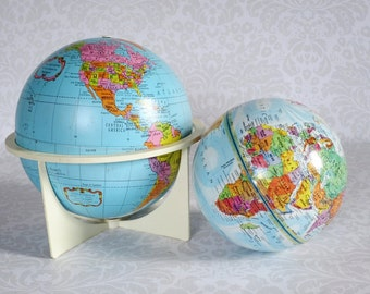 World Globes by Replogle  /  Vintage Earth Globes  /  Home Office Dorm Decor