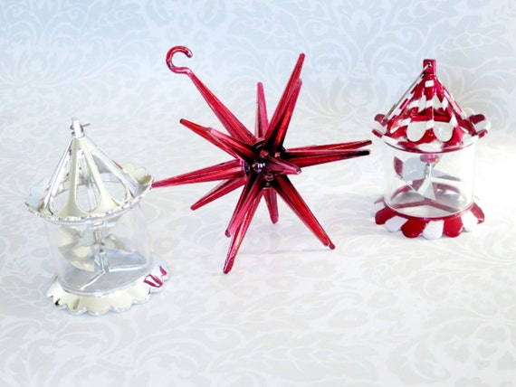 Vintage Spinner Twinkler Pinwheel Ornaments Atomic Star and