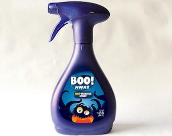 Boo Away! Anti Monster Spray PRINTABLE 500mL bottle LABEL for Febreeze bedding refresher bottle