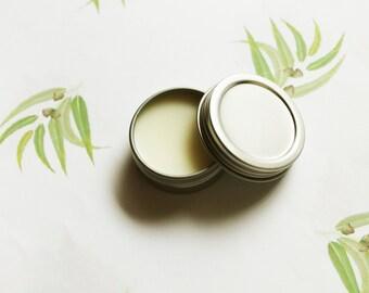 Eucalyptus Scented Lip Balm - Natural Shea Butter Lip Balm - Cocoa Butter - Beeswax - Lip Balm Tin - Lip Balm Favors - Matte Lipstick