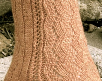 Knit Sock Pattern:  Agathon's Easy Lace Sock Knitting Pattern