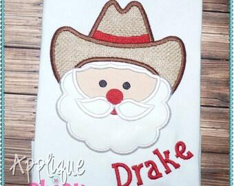 Cowboy Santa Applique Design