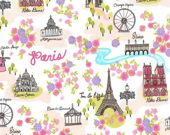 OOP Day in Paris Lavender (cx6570)  - Michael Miller Fabrics - By the Yard