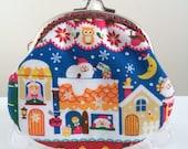Free Shipping - Handmade Coin Purse Santa Claus and Russia Dolls