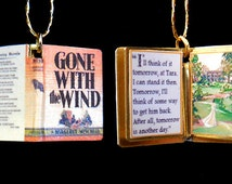Miniature Book Charm - Gone with the Wind by Margaret Mitchell for charm bracelet, as locket, or pendant. Custom available!