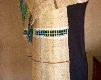 Hand woven alpaca scarf/ shawl/ table runner