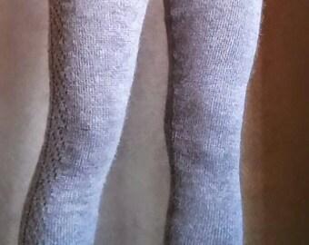 Made to order-leggings - natural alpaca or organic merino wool-  tights- pants- stockings- plain solid color