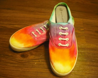 Tie dye womens White Stag brand shoes- upcycled
