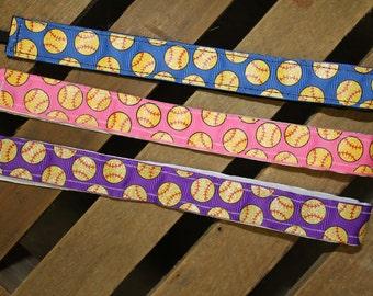Softball No-Slip Headband, Softball Headband, No-slip Headband, Pink, Purple, and Blue Softball Headband, No-Slip Headband, Sport Belle Band