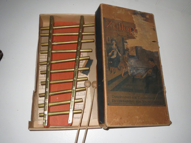 Vintage Musical Toys : Vintage toy musical instrument antique zellophone