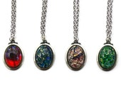 50% Off - Fire Opal Necklace Set