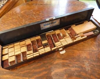 Industrial Metal Case with Wood Scrabble Tiles