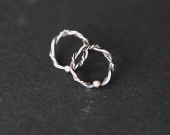 Stud silver 925 small earrings