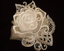 gothic embroidery embroidered quilt block gothic pillow top white rose quilt block