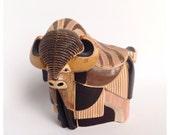 Original Handcrafted Ceramic Buffalo
